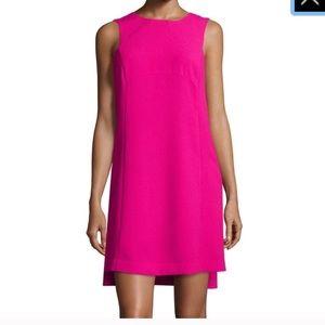 Trina Turk pink cape dress